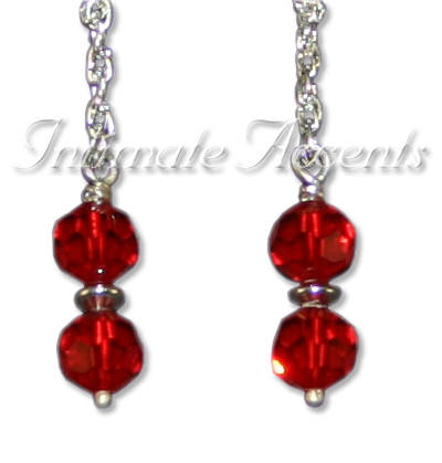 Arabesque Nipple Dangles - Style 3 with Braided Double Wrapped N