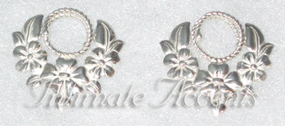 Arabesque Nipple Shields - Sterling Silver Flower Garland