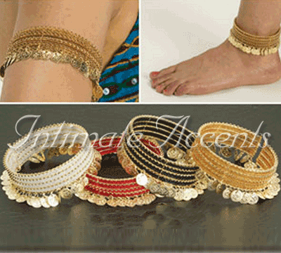 Bracelet / Anklet with Beads and Coins