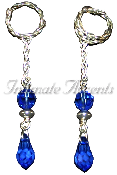 Nipple Dangles - Style 4 with Braided Adustable Nipple Rings