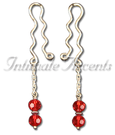 Arabesque Nipple Dangles - Style 3 with large Nipple Clips