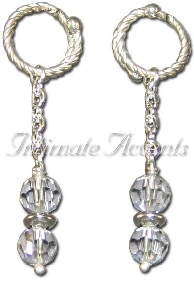 Nipple Dangles - Style 3 Twisted Adustable Double Wrapped