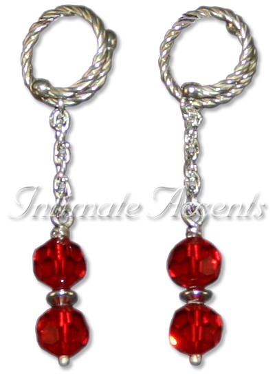 Nipple Dangles - Style 3 Twisted Adjustable Nipple Rings