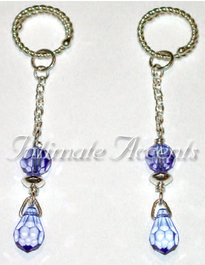 Arabesque Nipple Dangles - Style 4 with Twisted Adjustable Nippl