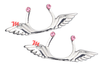 Jeweled Angel Wings - Clip on Nipple Jewelry