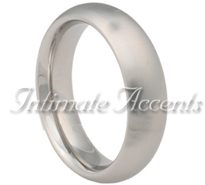Brushed Wide Round Stainless Steel Cock Ring
