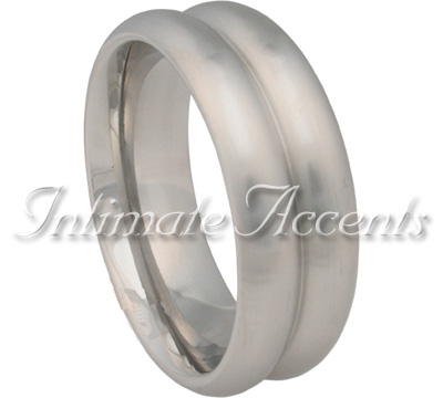 Double Magnum Brushed Stainless Steel Cock Ring
