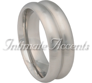 Double Magnum Brushed Stainless Cock Ring