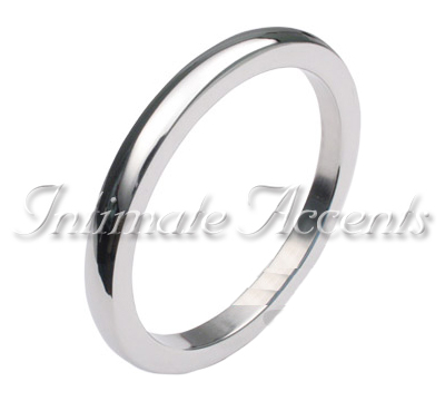 Polished Seamless Stainless Steel Cock Ring