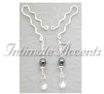 Arabesque Nipple Dangles - Style 4 with Large Nipple Clips
