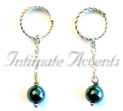 Nipple Dangles Lite with Twisted Adjustable Nipple Rings
