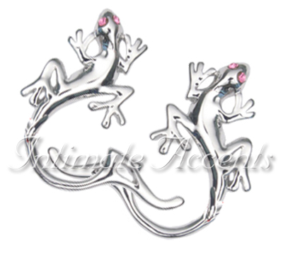 Jeweled Gecko ClipOn Nipple Shields